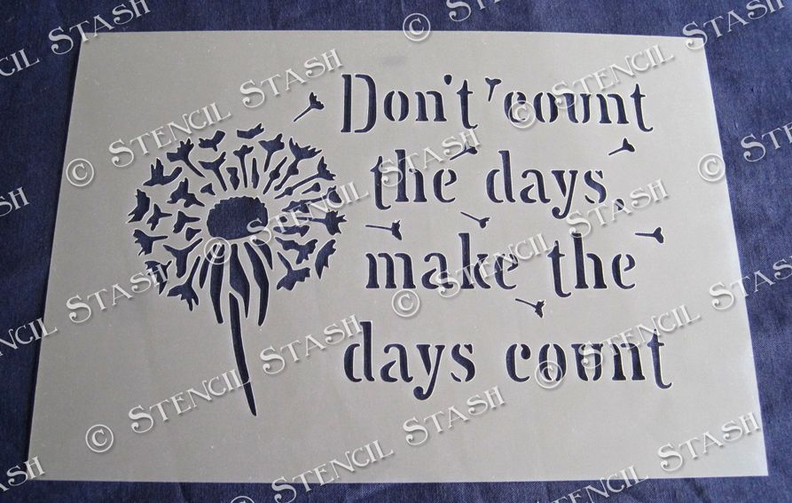 Don T Count The Days